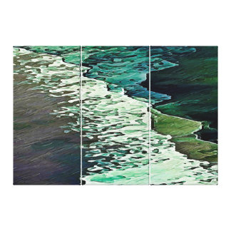 Calm Shores Canvas Triptych - Large