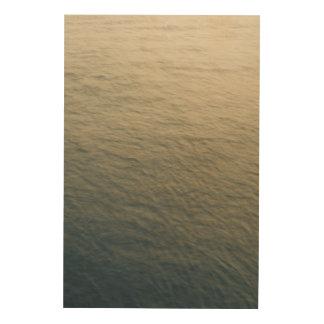 Calm Water At Twilight Wood Print