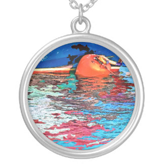 CALM WATER SILVER PLATED NECKLACE