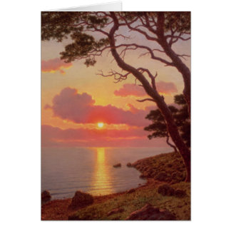 Calme de Soir, Cote d'Azur Greeting Card
