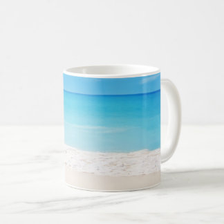 Calming beach scene mug