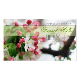Calming | Pretty Salon & Spa Floral Business Cards
