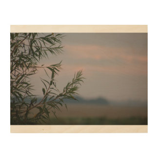 Calming silhouette wood wall decor
