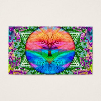 Calming Tree of Life in Rainbow Colors