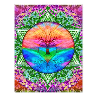 Calming Tree of Life in Rainbow Colors 21.5 Cm X 28 Cm Flyer