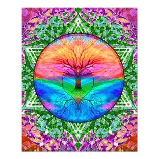 Calming Tree of Life in Rainbow Colors 11.5 Cm X 14 Cm Flyer