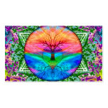 Calming Tree of Life in Rainbow Colours Pack Of Standard Business Cards