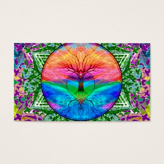 Calming Tree of Life in Rainbow Colours Business