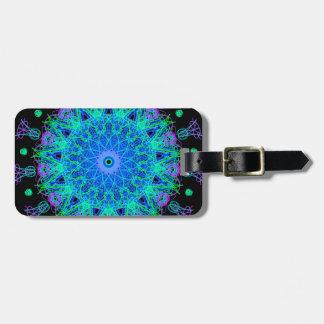 Calming Water Mandala Design Luggage Tag