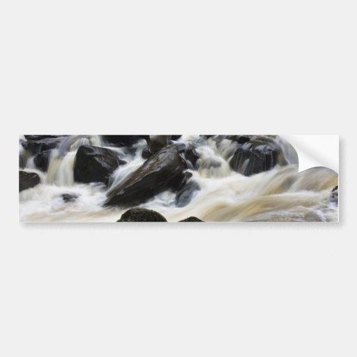 Calming waterfall bumper stickers