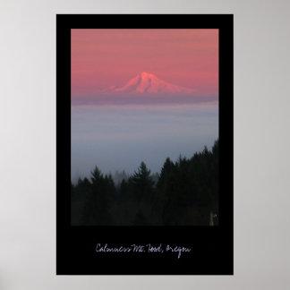Calmness, Mt. Hood, Oregon Poster