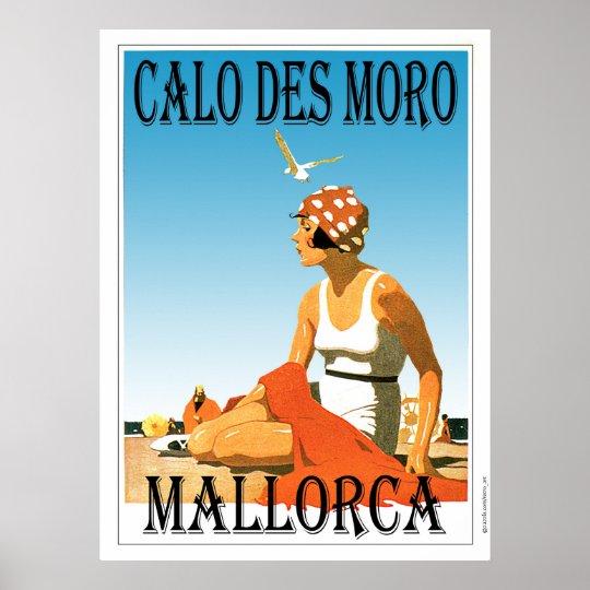 Calo des Moro Mallorca Beach Poster