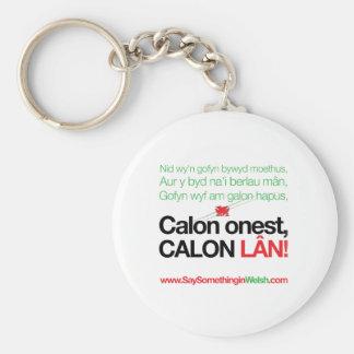 Calon Lan Basic Round Button Key Ring
