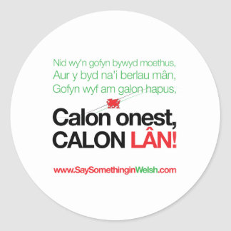 Calon Lan Classic Round Sticker