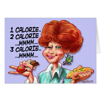 Calorie Counting Stationery Note Card