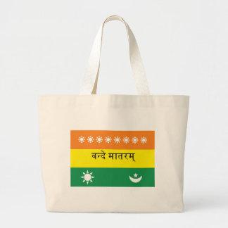 Calutta Flag (or India 1906) Large Tote Bag