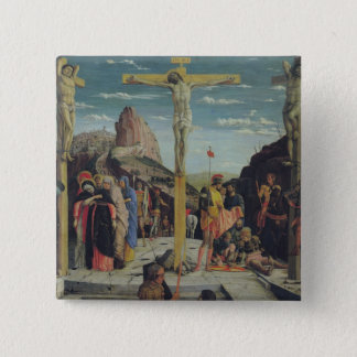 Calvary, central predella panel 15 cm square badge