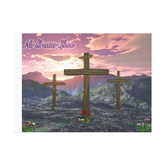Calvary christian art canvas print