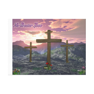 Calvary christian art stretched canvas prints