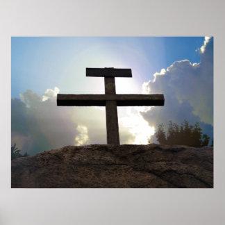Calvary Cross of Jesus Golgotha crucifixion poster