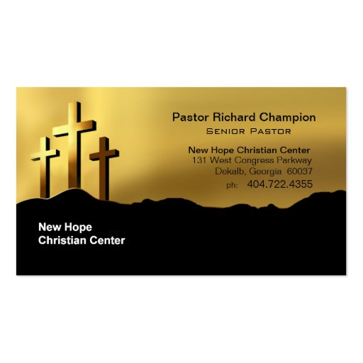 Calvary Crosses Christian Symbol Minister/Pastor Business Cards