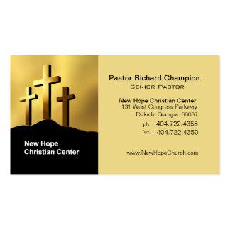 Calvary Crosses Christian Symbol Minister/Pastor Pack Of Standard Business Cards