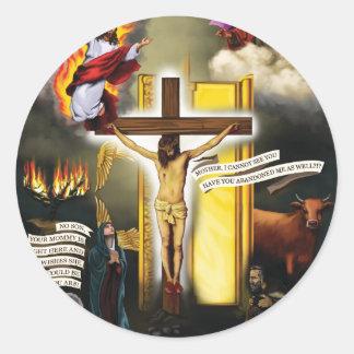 Calvary-Old-Testament-Typology - 12-20-2012 300 DP Round Sticker