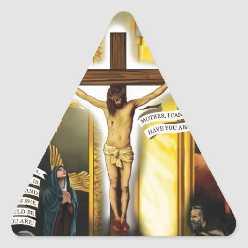 Calvary-Old-Testament-Typology - 12-20-2012 300 DP Triangle Stickers