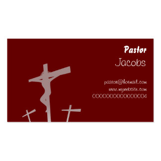 Calvary, Pastor, Pack Of Standard Business Cards