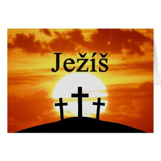Calvary Sunrise Ježíš Card
