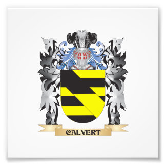 Calvert Coat of Arms - Family Crest Art Photo