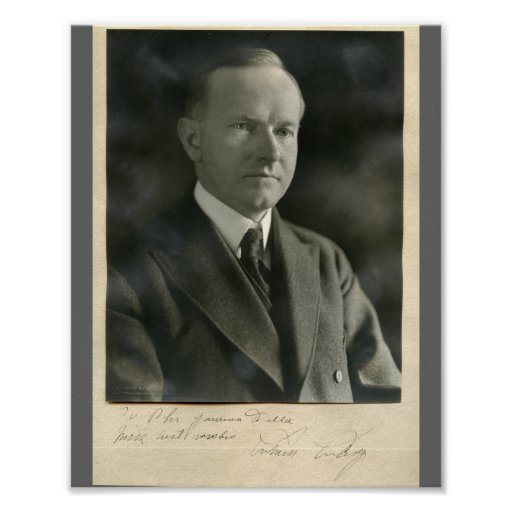 Calvin Coolidge 8x10 signed Poster