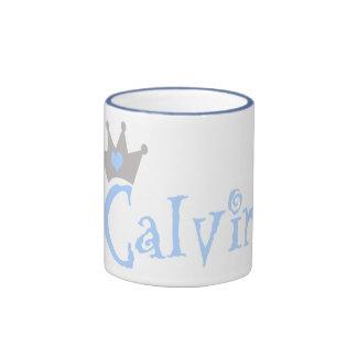Calvin Heart Crown Ceramic Mug