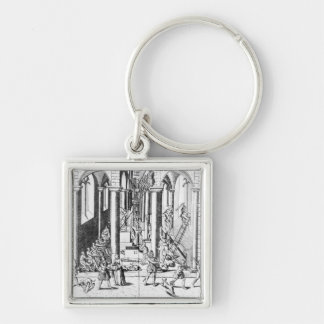 Calvinists destroying statues key ring