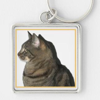 Calypso Cat Profile Keychain