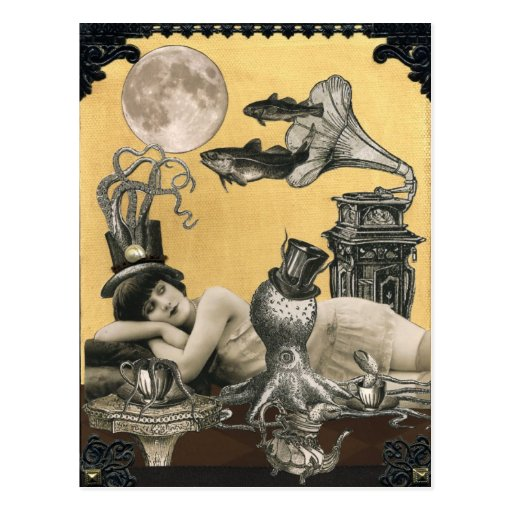 Calypso Steampunk Postcard