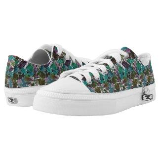 Cam Leaves Design on ZipZ Low Top Sneakers