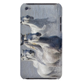 Camargue horses running on marshland to cross iPod touch Case-Mate case
