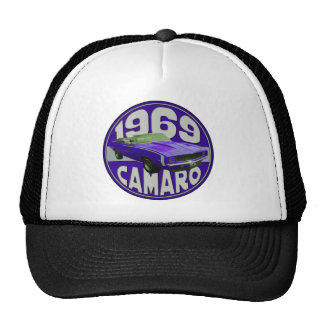 camaro 1969 Super Sport Purple Rag Top Trucker Hat