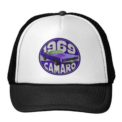camaro 1969 Super Sport Purple Rag Top Mesh Hat