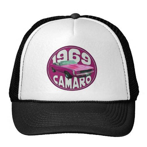 Camaro SS Pink 1969 Hats