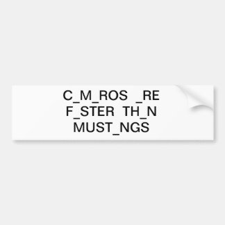 camaros are faster bumpersticker bumper sticker
