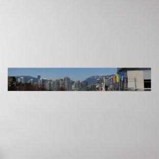 Cambie St. - Vancouver Daytime Skyline Print