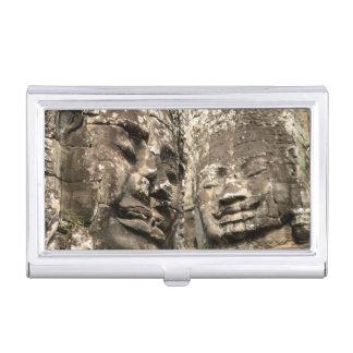 Cambodia, Angkor Wat. Angkor Thom, Bayon Business Card Holder