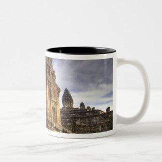 Cambodia, Angkor Wat. View of Bakong Temple. Two-Tone Coffee Mug