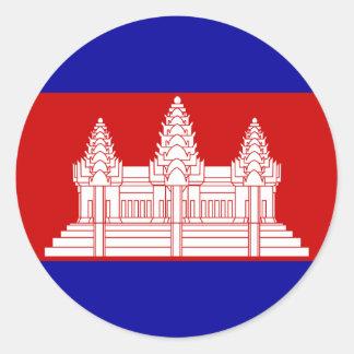 cambodia classic round sticker
