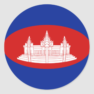 Cambodia Fisheye Flag Sticker