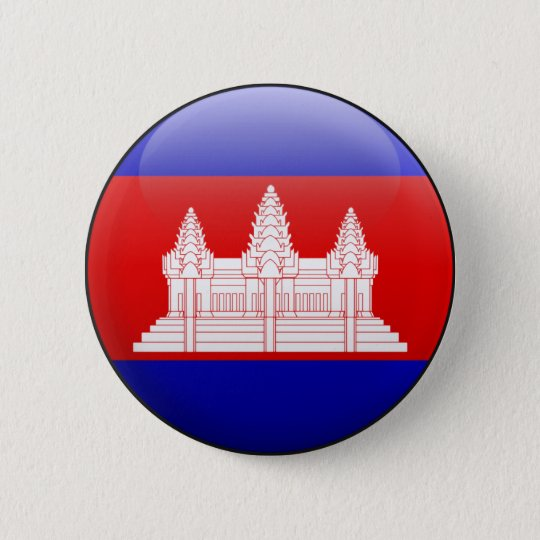 Cambodia Flag 6 Cm Round Badge