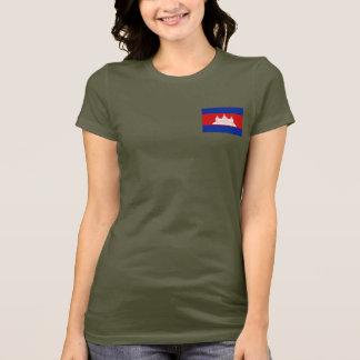 Cambodia Flag and Map dk T-Shirt