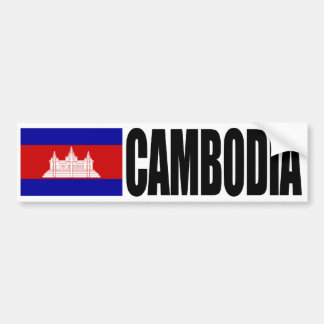 Cambodia Flag Bumper Sticker